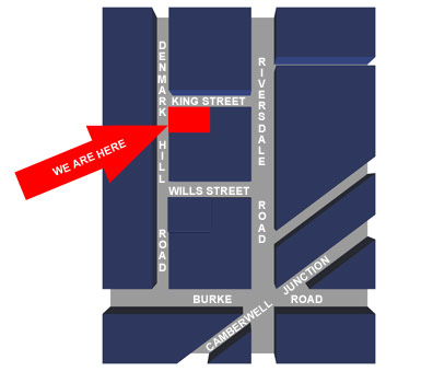 PBM melbourne location map